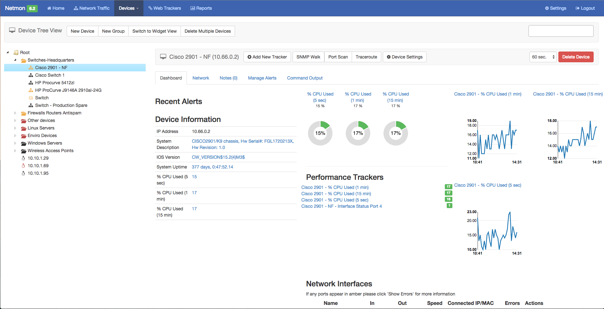 Monitoring Cisco devices on your network