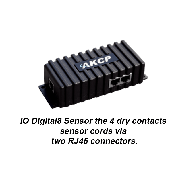 io digital 8 sensor with rj45 dry contact connections