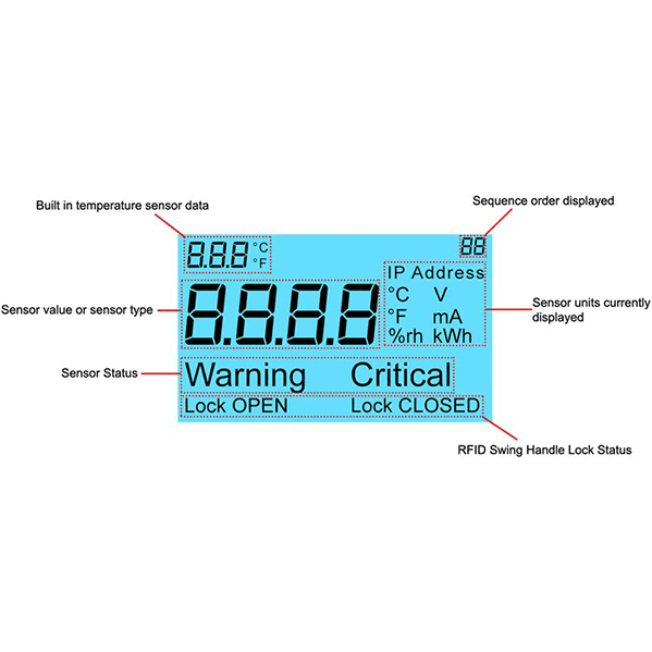 akcp programmable LCD display
