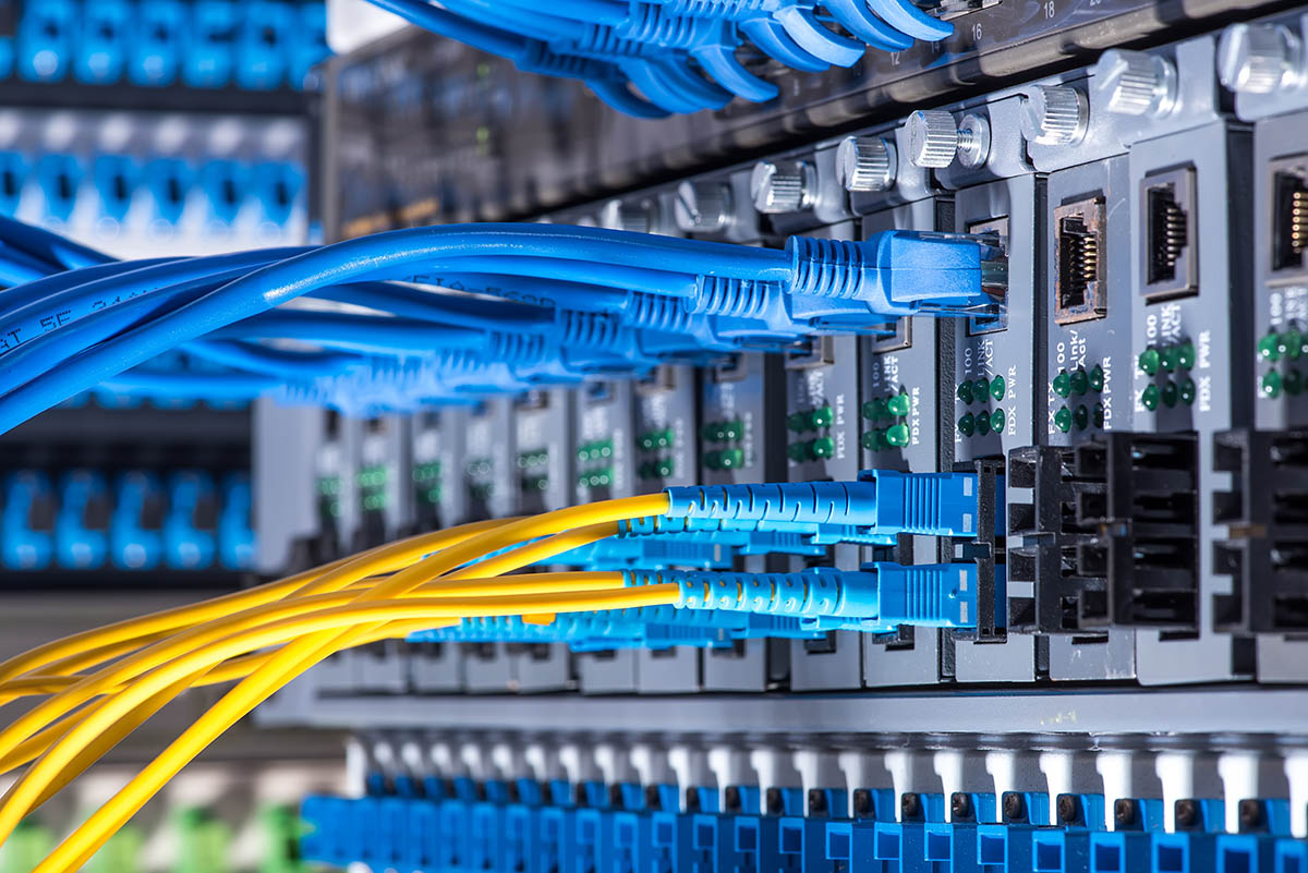 Fiber Optic cables and UTP Network cables
